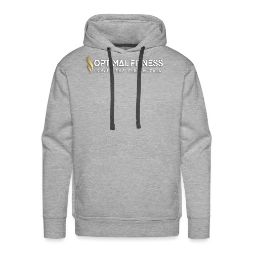 white logo, keep calm and hiit it white - Men's Premium Hoodie