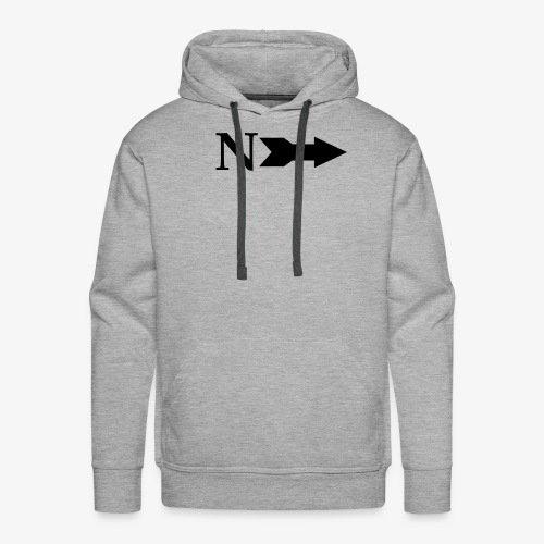 Narrow Logo Black - Men's Premium Hoodie