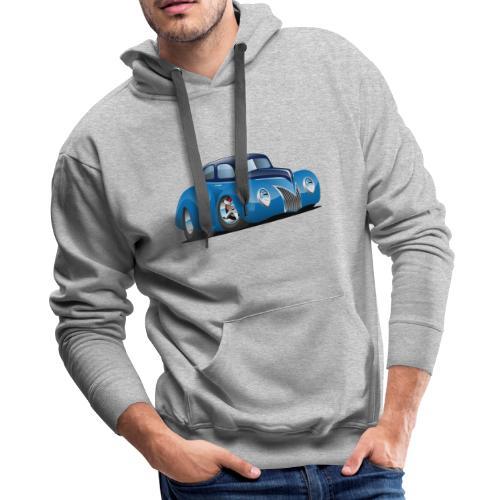 Classic 39 Street Rod Coupe Custom Car Cartoon - Men's Premium Hoodie