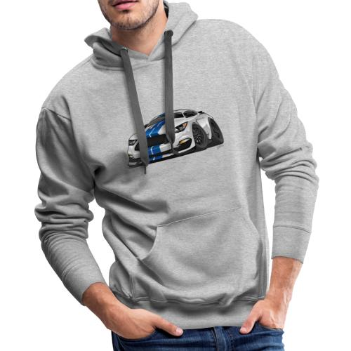 Modern American Muscle Car Cartoon - Men's Premium Hoodie
