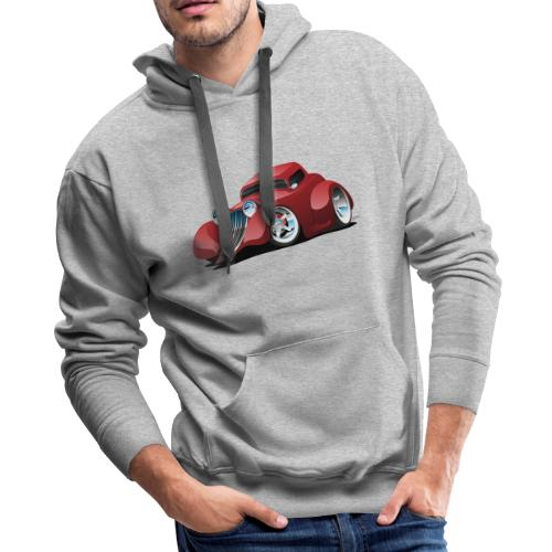 Red Hot Rod Restomod Custom Coupe Cartoon - Men's Premium Hoodie