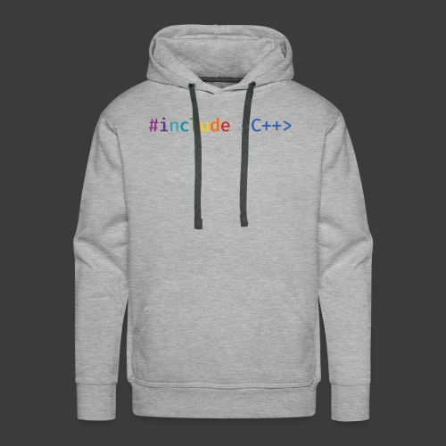 Rainbow Include C++ (Light Background) - Men's Premium Hoodie