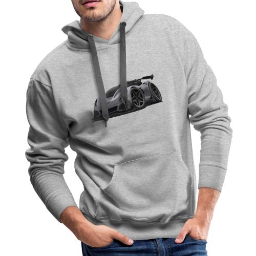 Modern American Sports Car Cartoon - Men's Premium Hoodie