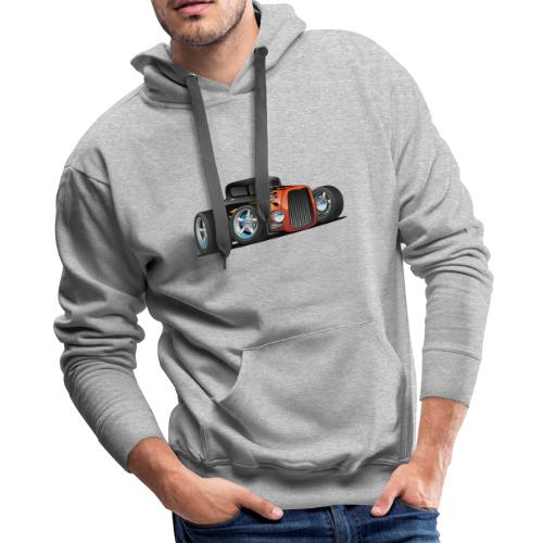 Hot Rod Classic Coupe Custom Car Cartoon - Men's Premium Hoodie