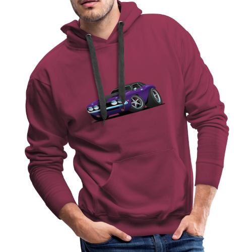 Classic Muscle Car Cartoon - Men's Premium Hoodie