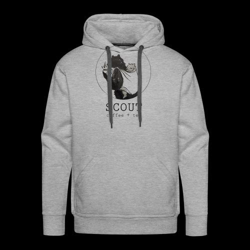 papa large logo - Men's Premium Hoodie