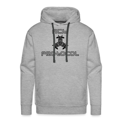 ACID PROTOCOL OFFICIAL LOGO BLACK - Men's Premium Hoodie