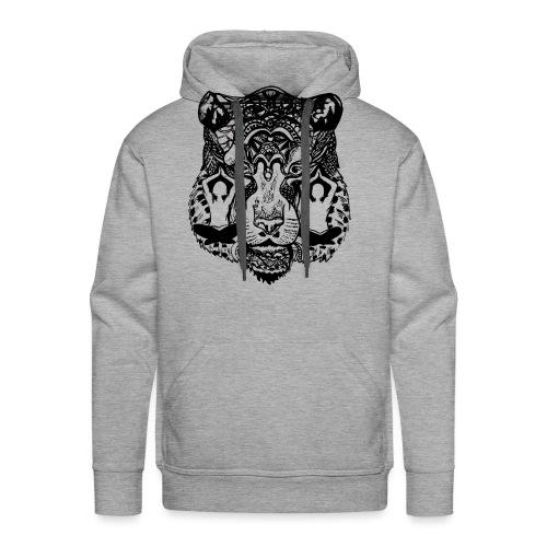 Tiger Yoga face - Men's Premium Hoodie