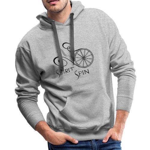 Spirit Spin Black Logo Transparent Background - Men's Premium Hoodie