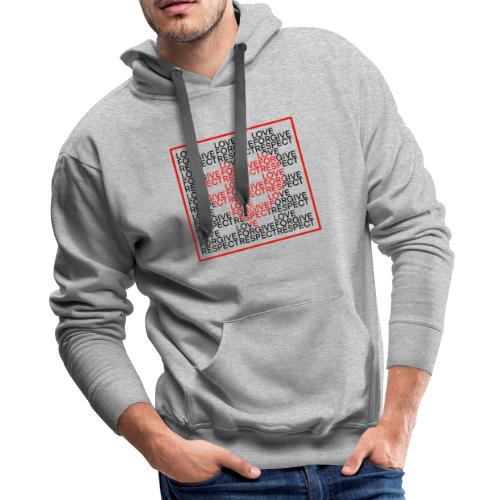 LOVE,FORGIVE,RESPECT - Men's Premium Hoodie