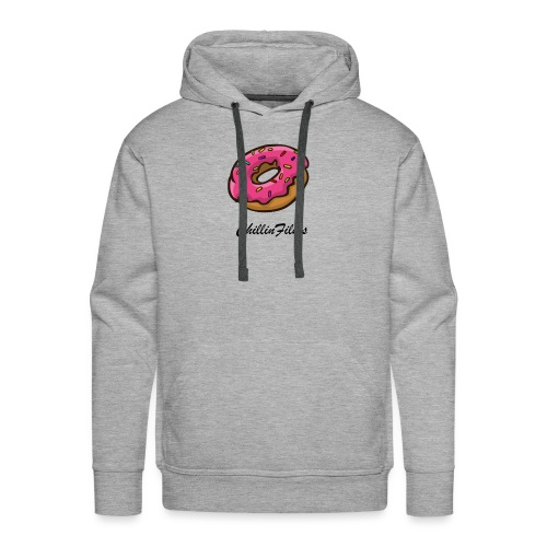 CF doughnut black writing - Men's Premium Hoodie