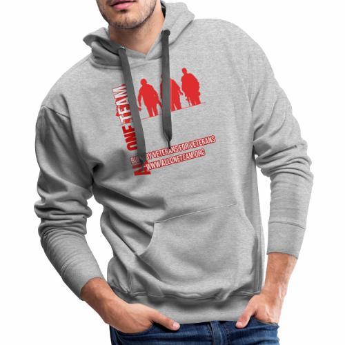 All One Team Sideways Design - Men's Premium Hoodie