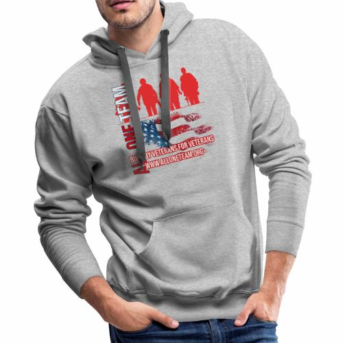 All One Team Sideways Design with Flag - Men's Premium Hoodie