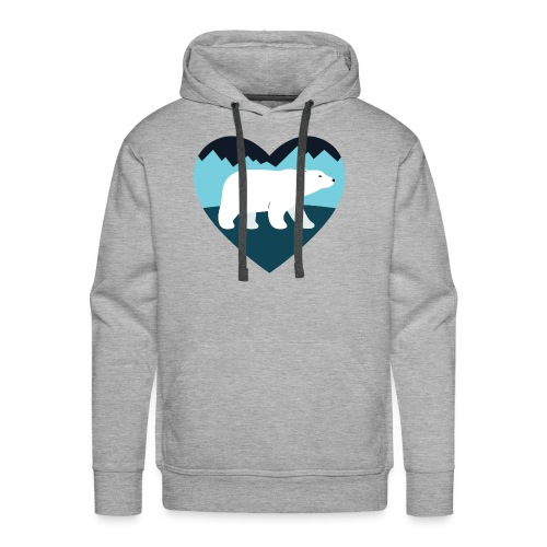 Polar Bear Love - Men's Premium Hoodie