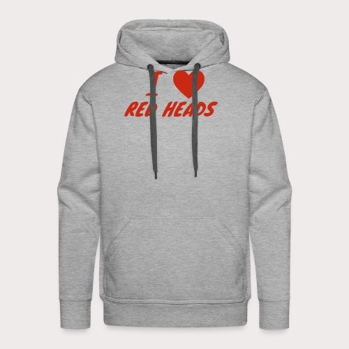 I HEART RED HEADS - Men's Premium Hoodie