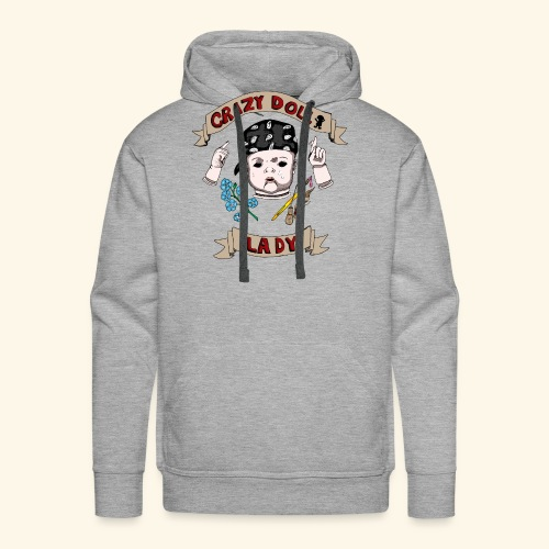 crazy doll lady - Men's Premium Hoodie
