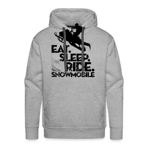 Snowmobiling Eat Sleep - Men's Premium Hoodie