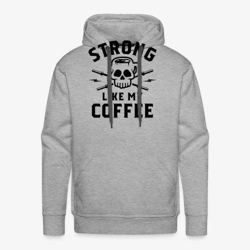 Strong Like My Coffee v2 - Men's Premium Hoodie