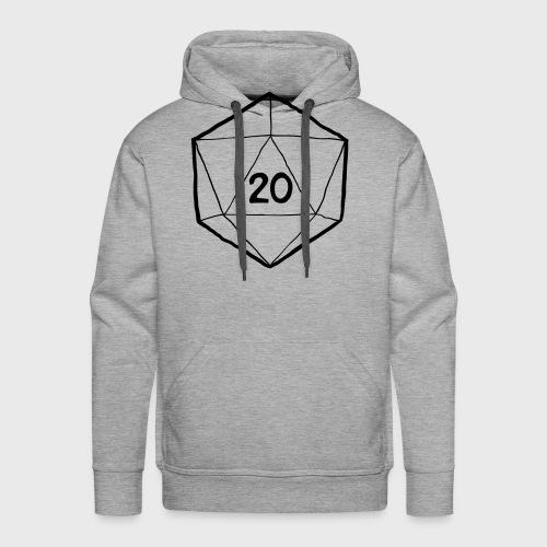 Fantasy Dice d20 - Men's Premium Hoodie