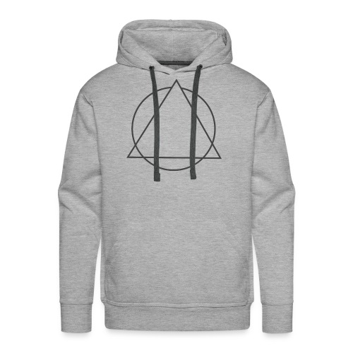 triangulo sem clown cinza png - Men's Premium Hoodie