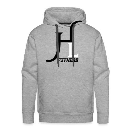 HIIT Life Fitness logo white - Men's Premium Hoodie