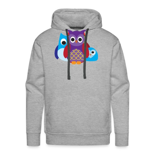 Cute Owls Eyes - Men's Premium Hoodie