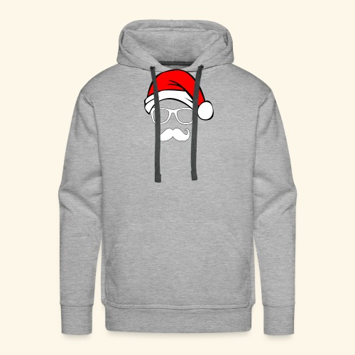 Santa with Geek and Mustache - Men's Premium Hoodie