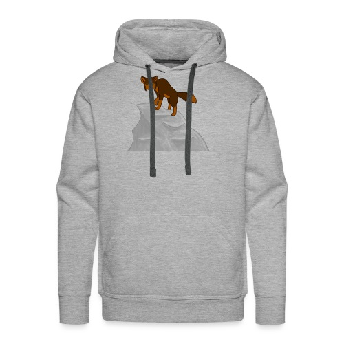 Wolf looking down on Boulder - Men's Premium Hoodie