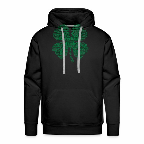 Shamrock Word Cloud - Men's Premium Hoodie