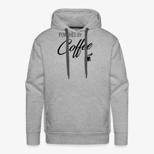 Powered by Coffee - Men's Premium Hoodie