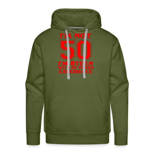 8teen red not 50 - Men's Premium Hoodie