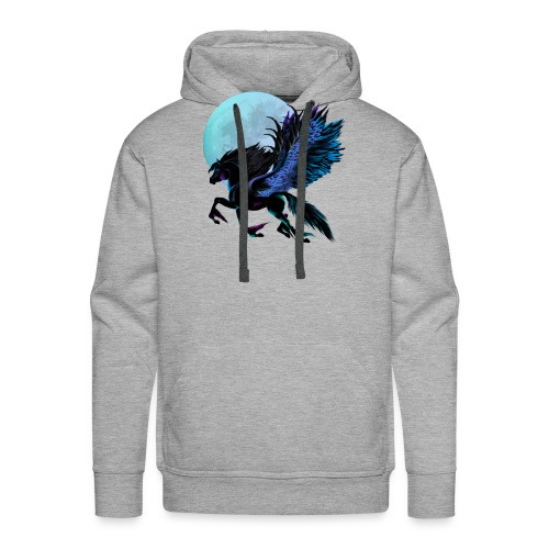 Black Pegasus and Blue Moon - Men's Premium Hoodie