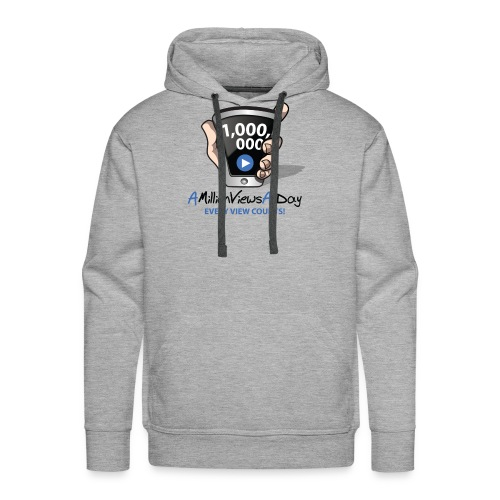 AMillionViewsADay - every view counts! - Men's Premium Hoodie