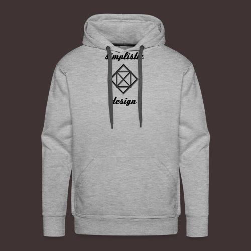Simplistic Design Logo With Text - Men's Premium Hoodie