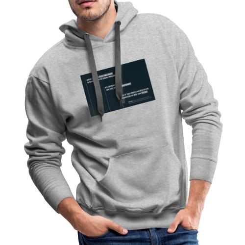 Wear the facts know the facts, own the fact, stand - Men's Premium Hoodie