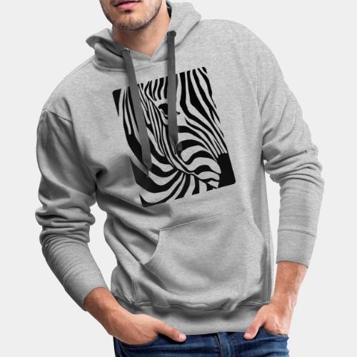 zebra black white - Men's Premium Hoodie
