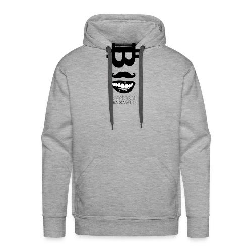 Bitcoin Tshirt - Snortoshi Crackamoto - Men's Premium Hoodie