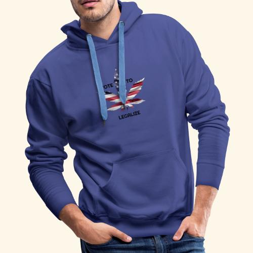 VOTE TO LEGALIZE - AMERICAN CANNABISLEAF SUPPORT - Men's Premium Hoodie