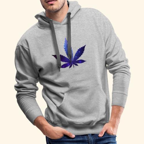 Cannabis Leaf - Galaxy - Weed - Men's Premium Hoodie