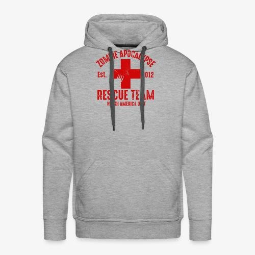 Zombie Rescue Halloween Shirt - Men's Premium Hoodie