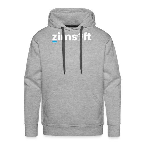 zimsoft white cropped - Men's Premium Hoodie