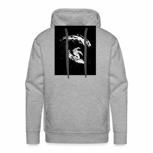 Astronaut Surf tshirt 01 HQ 01 - Men's Premium Hoodie