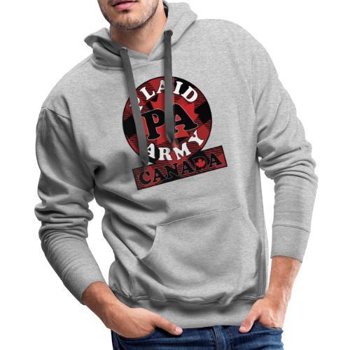 Plaid Army Canada - Men's Premium Hoodie