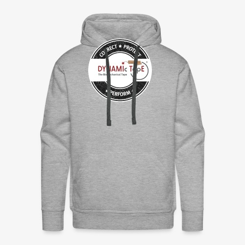 Dynamic Tape Correct-Protect-Perform White circle - Men's Premium Hoodie