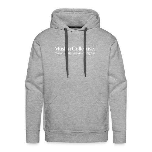 Muslim Collective Logo + tagline - Men's Premium Hoodie