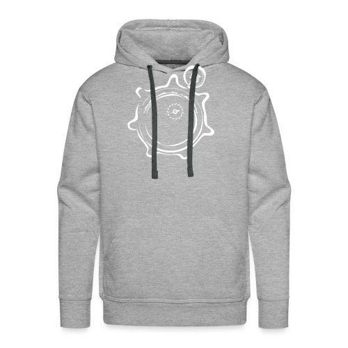 Athlete Engineers Stopwatch - White - Men's Premium Hoodie