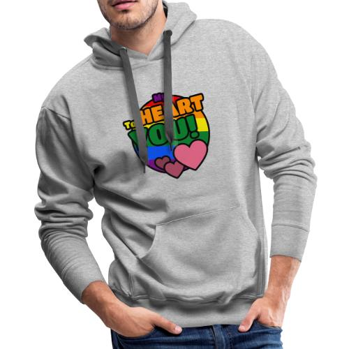 My Heart To You! I love you - printed clothes - Men's Premium Hoodie