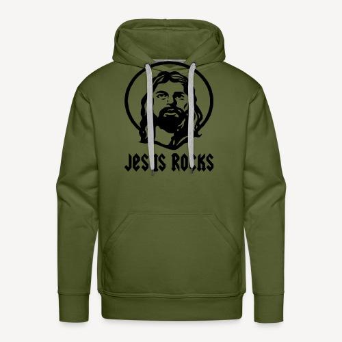 JESUS ROCKS - Men's Premium Hoodie