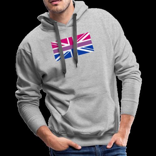 Gay Pride LGBT Bisexual Bi GB UK Union Jack Flag - Men's Premium Hoodie