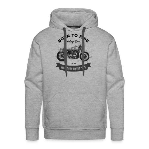 Born to ride Vintage Race T-shirt - Men's Premium Hoodie